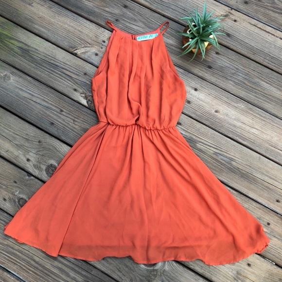 Francesca's Collections Dresses & Skirts - Francescas's Orange Dress Size Small
